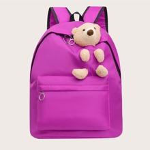 Kids Plush Bear Decor Backpack