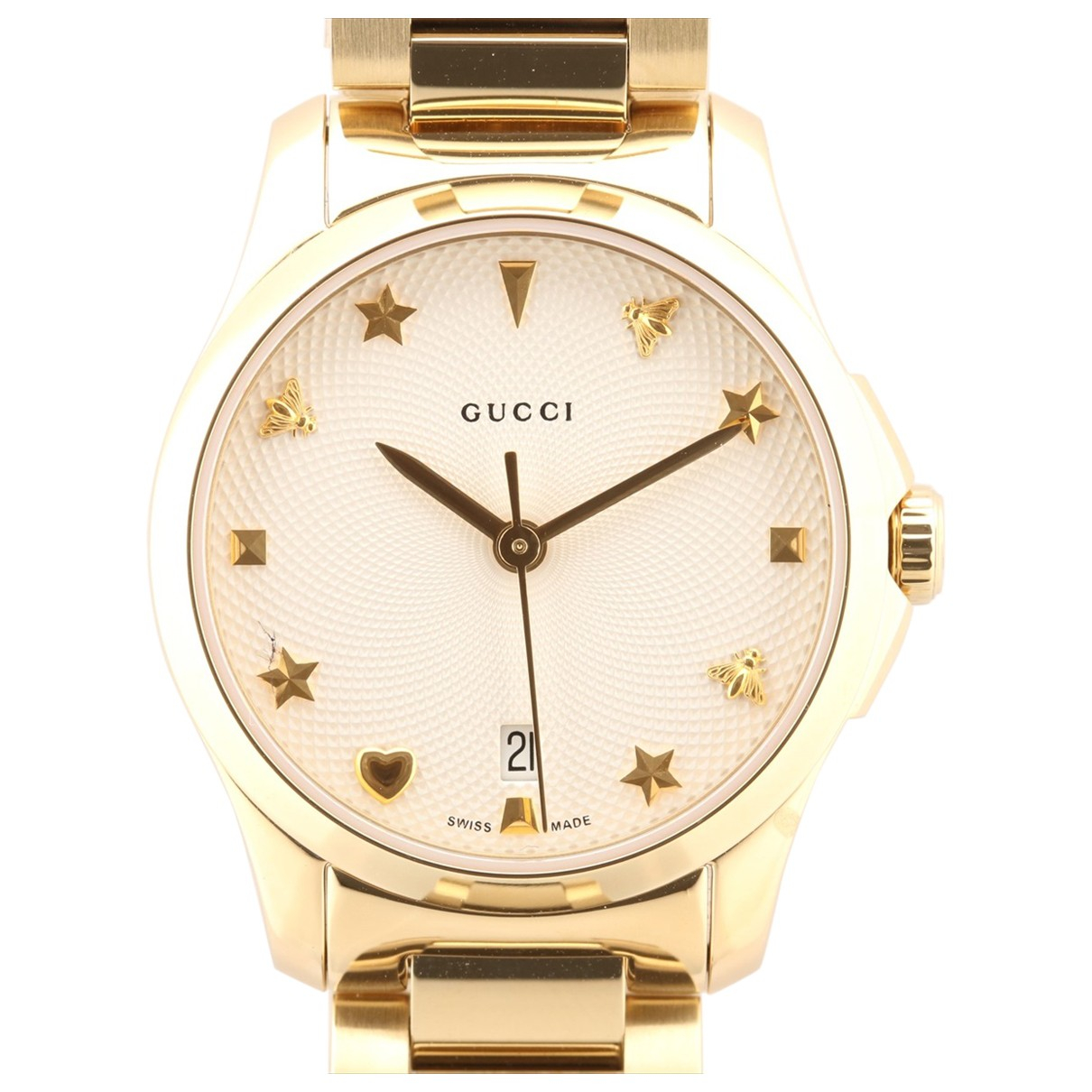 Gucci \N Uhr in Vergoldet