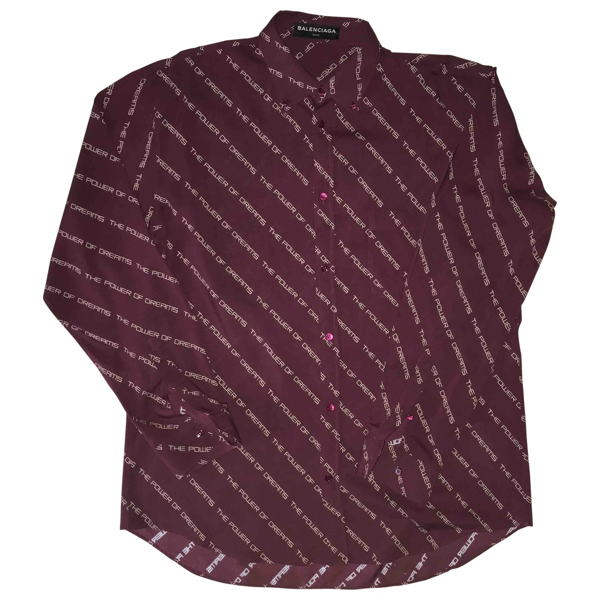 Balenciaga \N Hemden in  Bordeauxrot Viskose