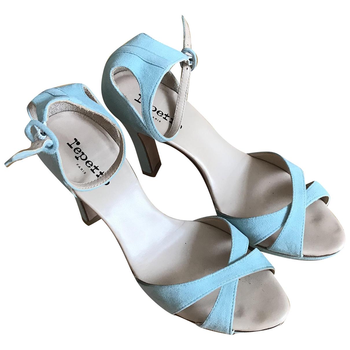 Repetto \N Sandalen in  Blau Veloursleder