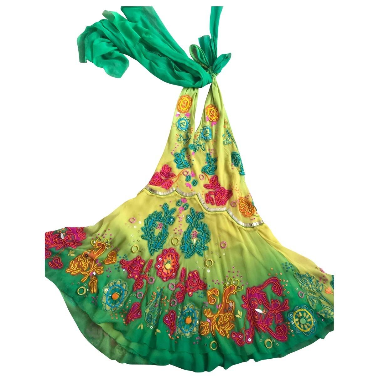 Jenny Packham \N Kleid in  Bunt Seide