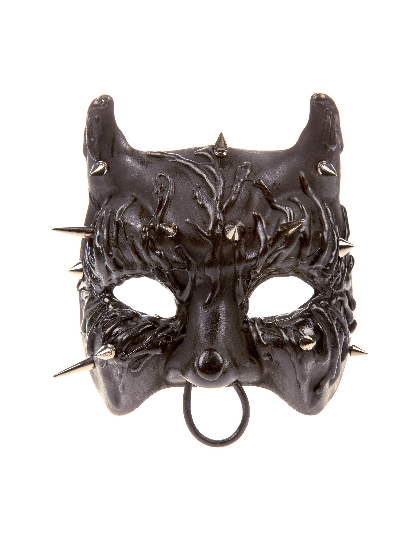 Kostuemzubehor Maske Katze matt schwarz