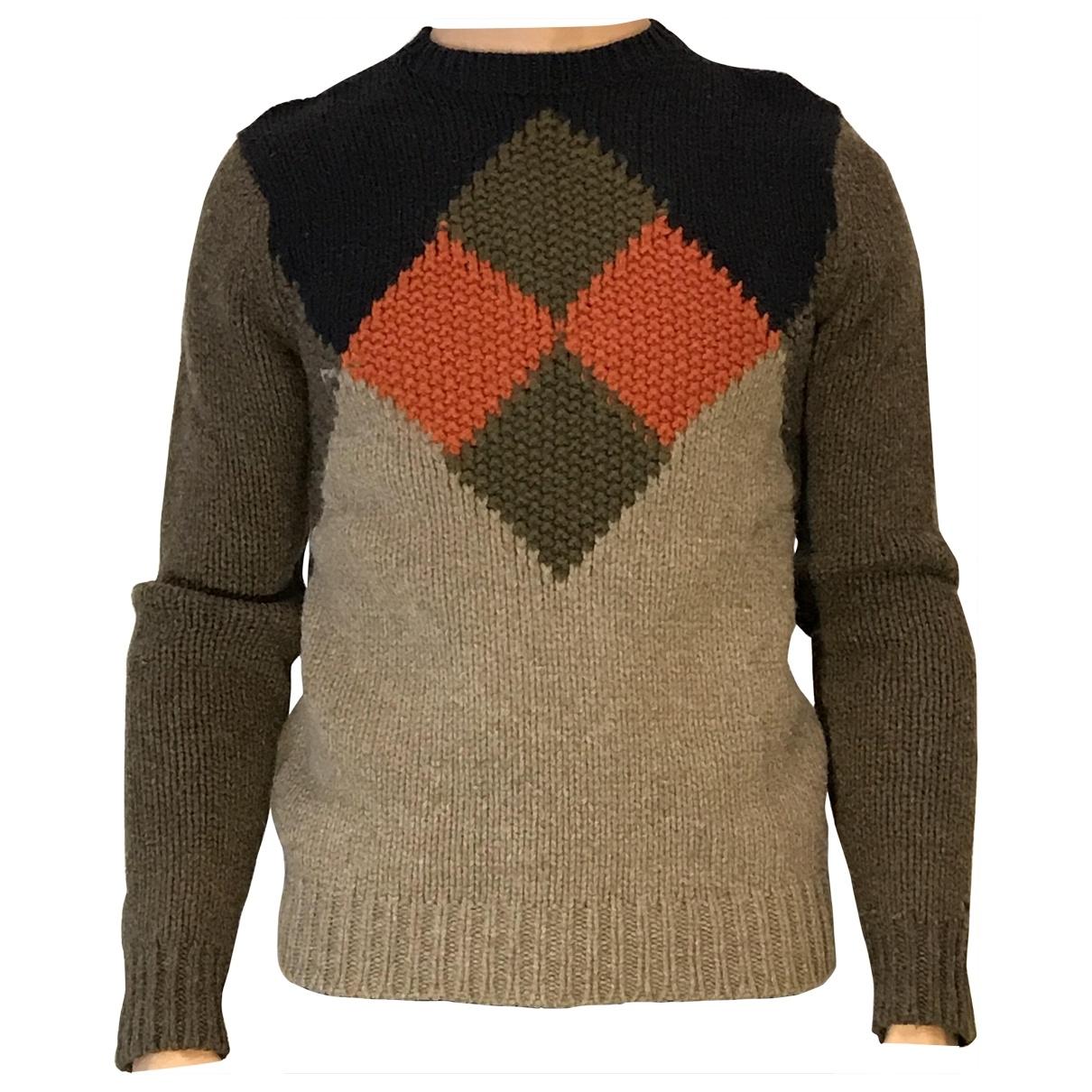 Tommy Hilfiger \N Pullover.Westen.Sweatshirts  in  Khaki Wolle