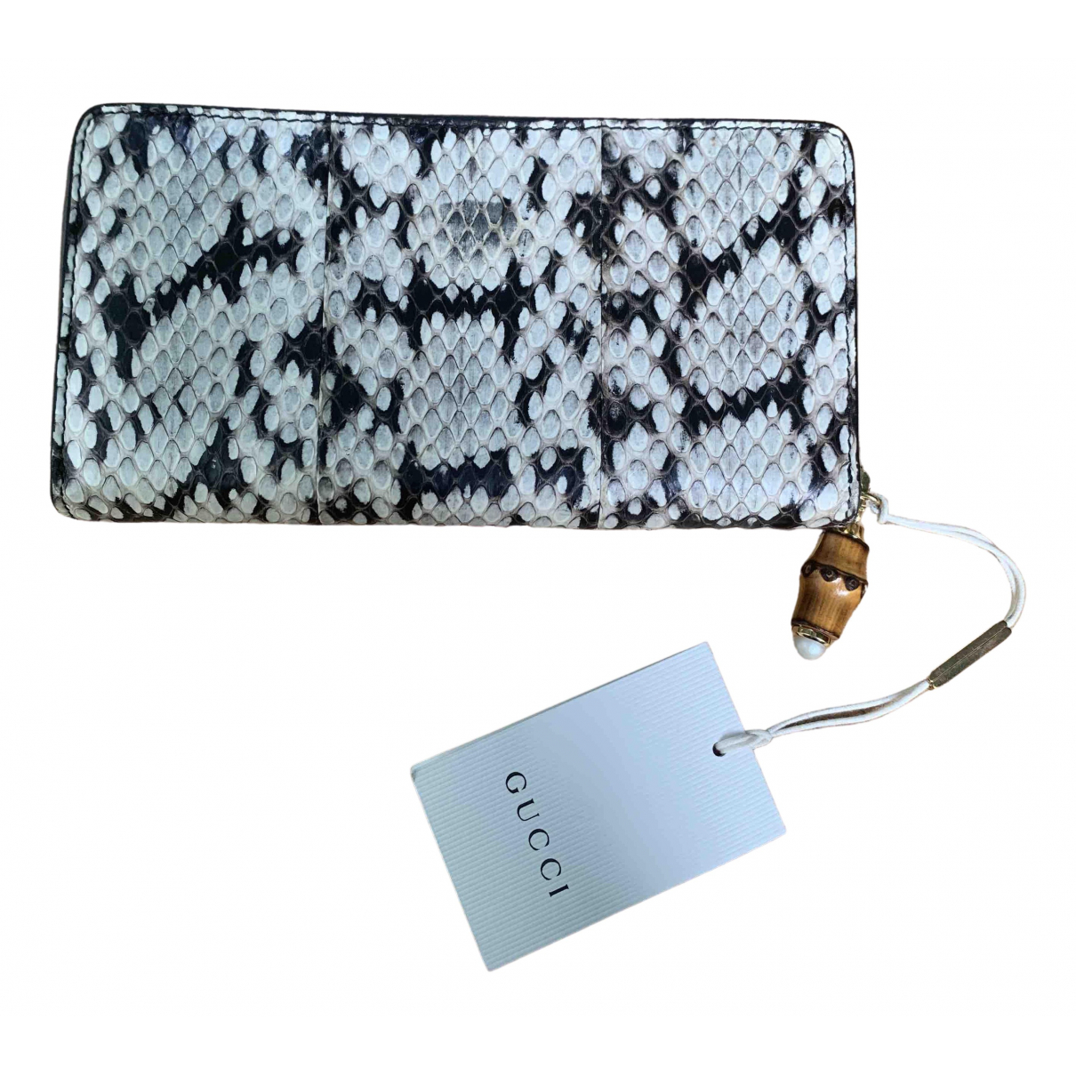 Gucci Continental Beige Python wallet for Women \N