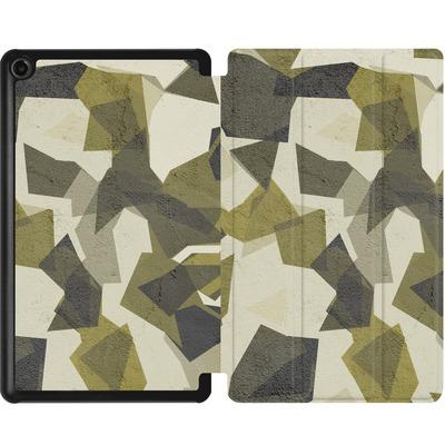 Amazon Fire 7 (2017) Tablet Smart Case - Geometric Camo Green von caseable Designs