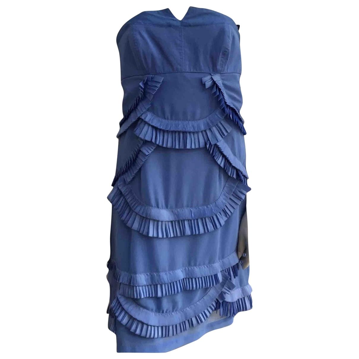 Reiss - Robe   pour femme - bleu