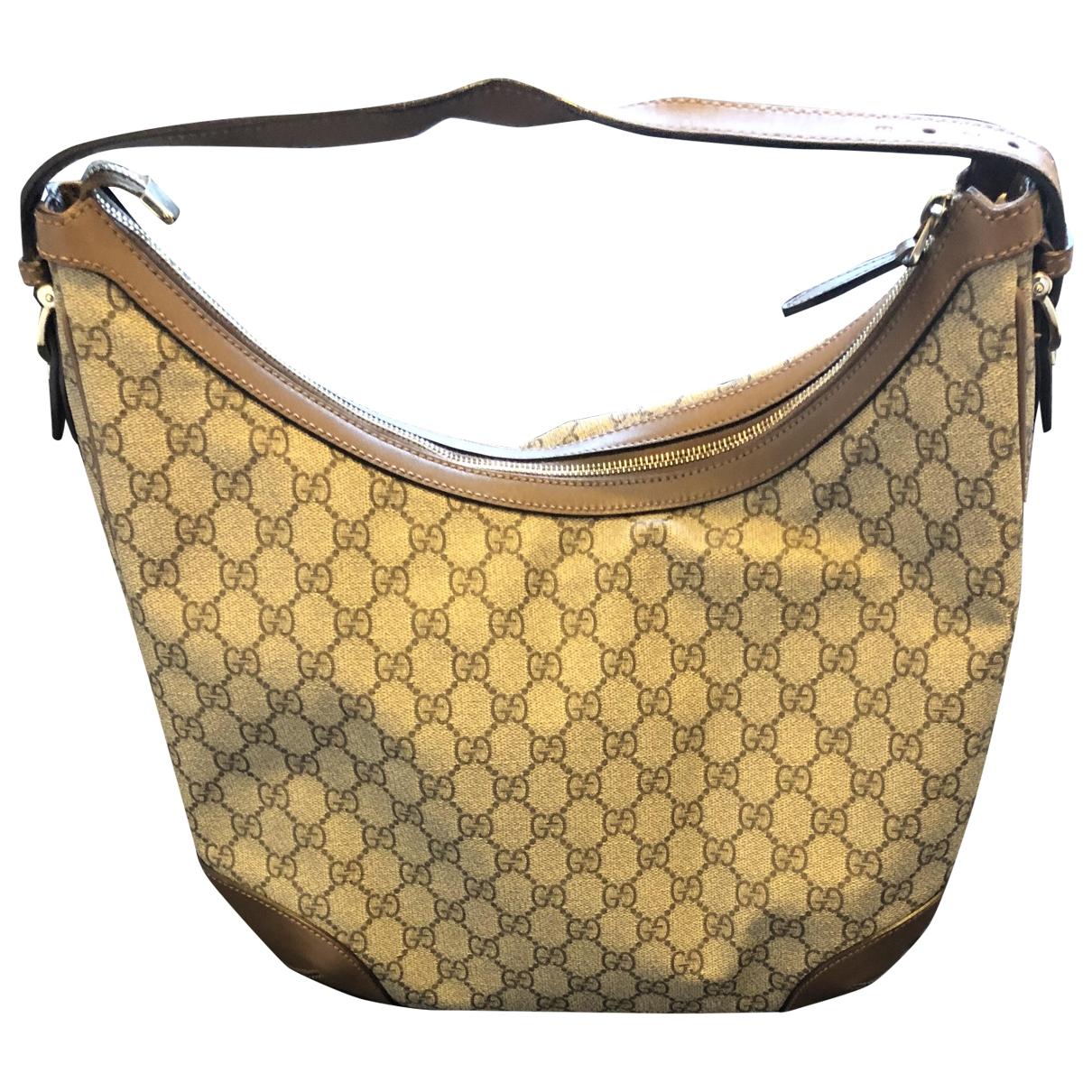 Gucci Hobo Handtasche in  Braun Leinen