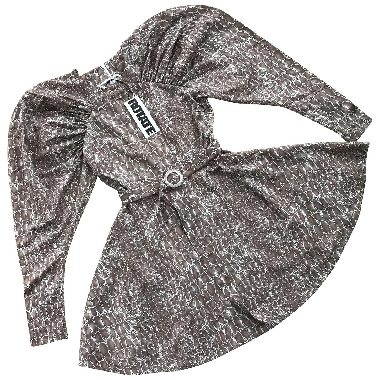 Rotate \N Kleid in  Beige Polyester