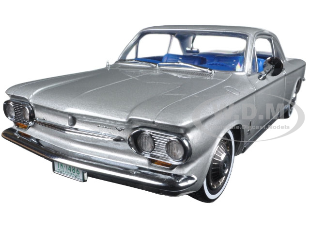 1963 Chevrolet Corvair Coupe Satin Silver 1/18 Diecast Model Car by SunStar