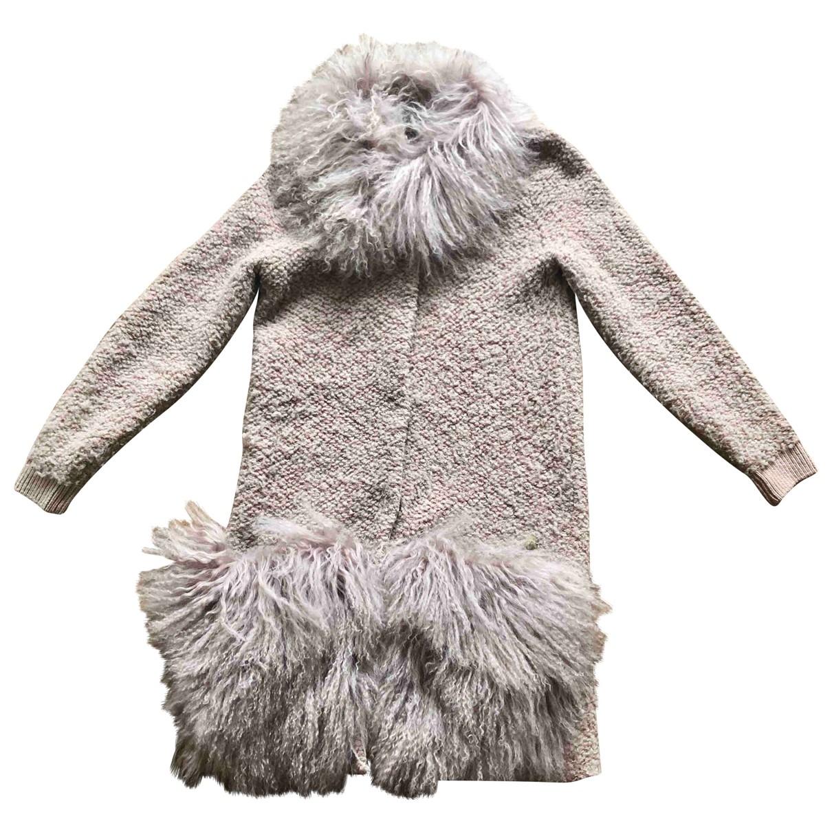 Falconeri - Manteau   pour femme en laine - rose