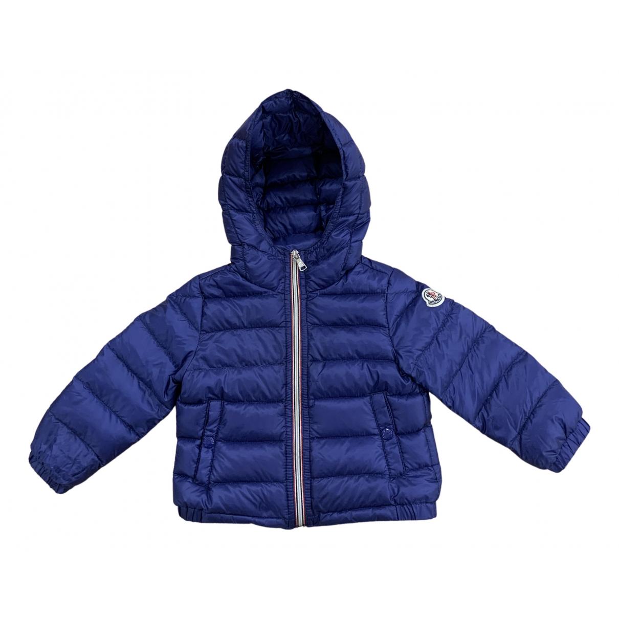 Moncler Hood Jacke, Maentel in  Blau Polyester