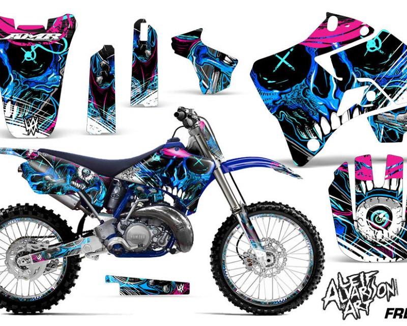 AMR Racing Graphics MX-NP-YAM-YZ125-YZ250-96-01-FZ U Kit Decal Sticker Wrap + # Plates For Yamaha YZ125 YZ250 1996-2001áFRENZY BLUE