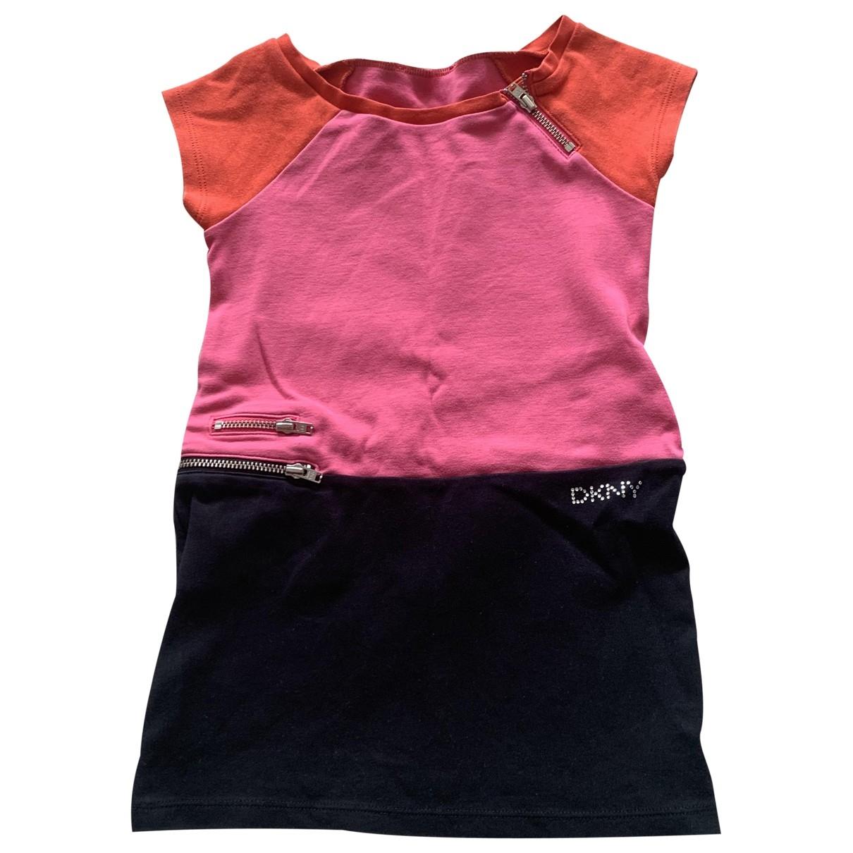 Dkny - Robe    pour enfant en coton - elasthane - rose