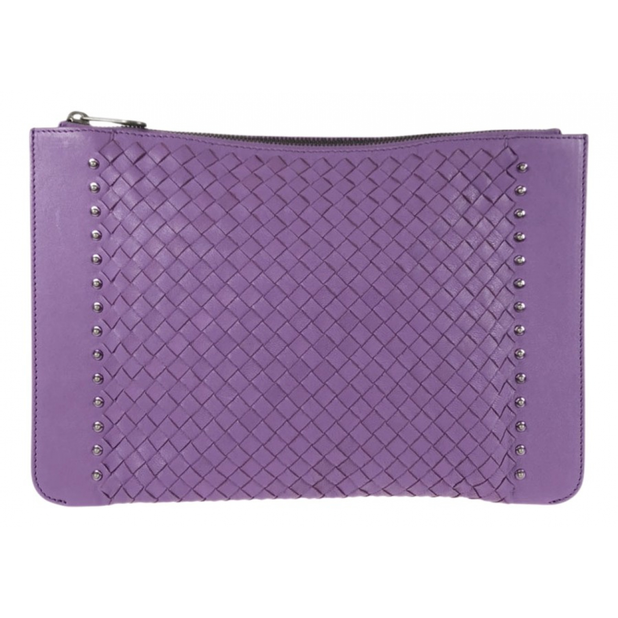 Bottega Veneta N Purple Leather Clutch bag for Women N