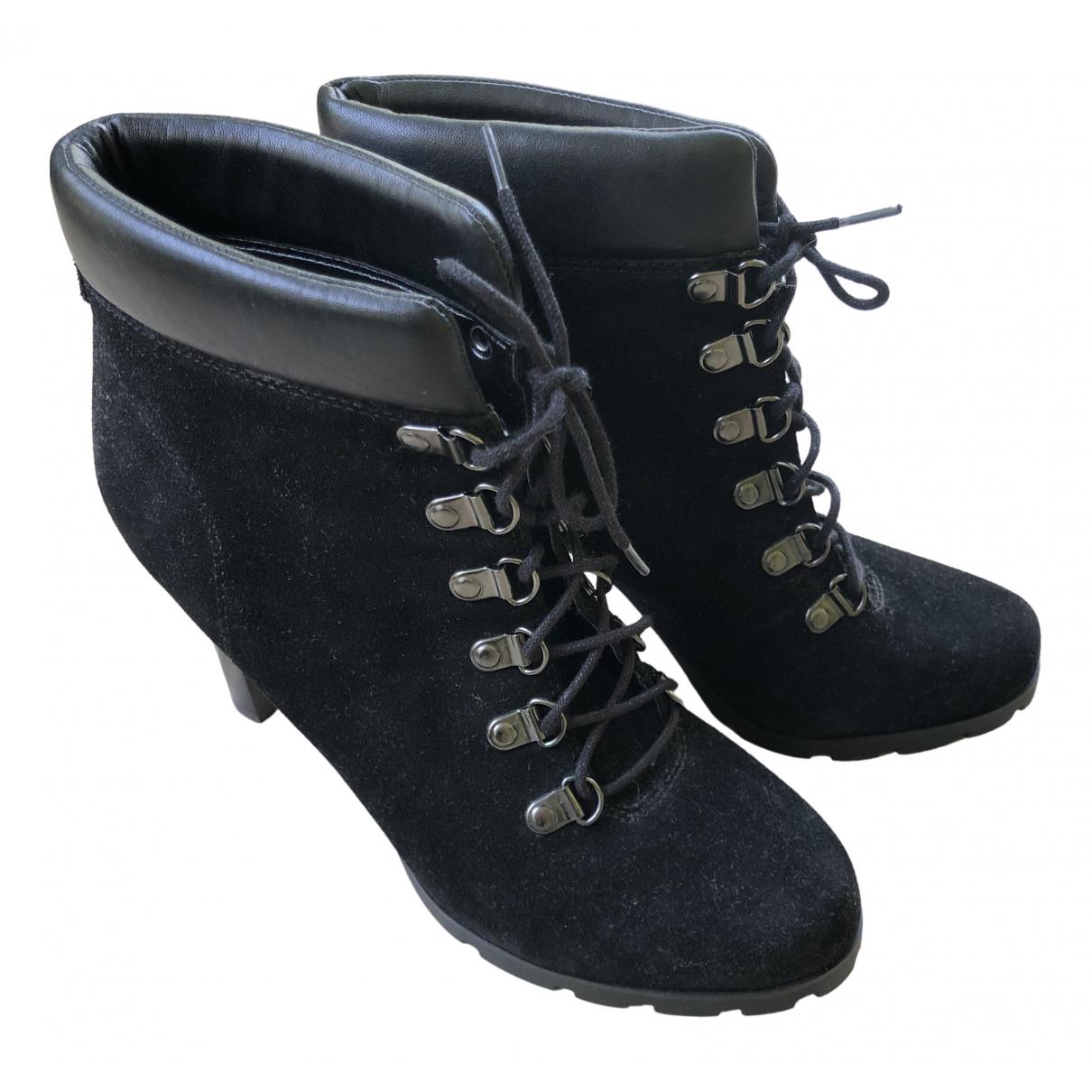 Lauren Ralph Lauren \N Black Suede Ankle boots for Women 7.5 US