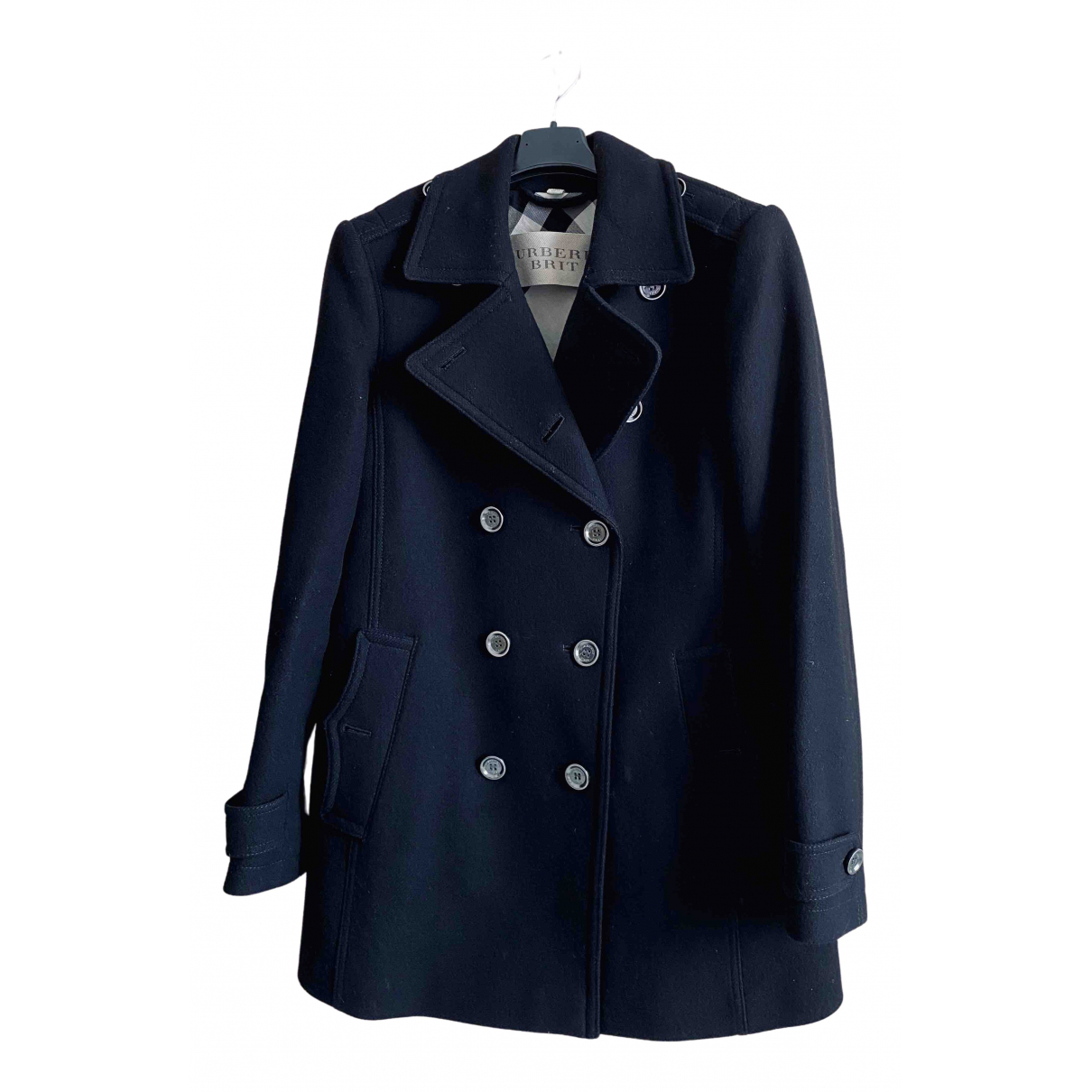 Burberry \N Black Wool coat for Women 42 IT