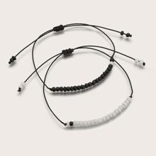 2 Stuecke Perlenschnur Armband