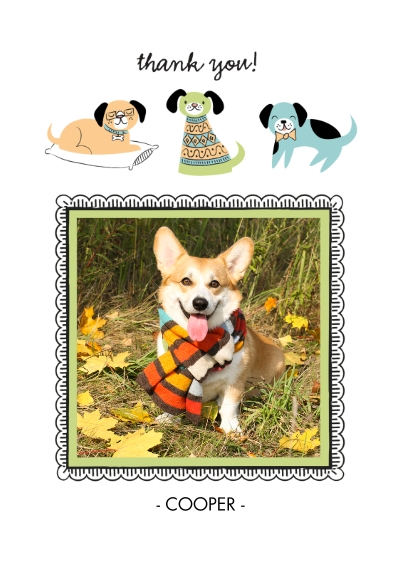 Pets Flat Matte Photo Paper Cards with Envelopes, 5x7, Card & Stationery -Raining Dog Kisses