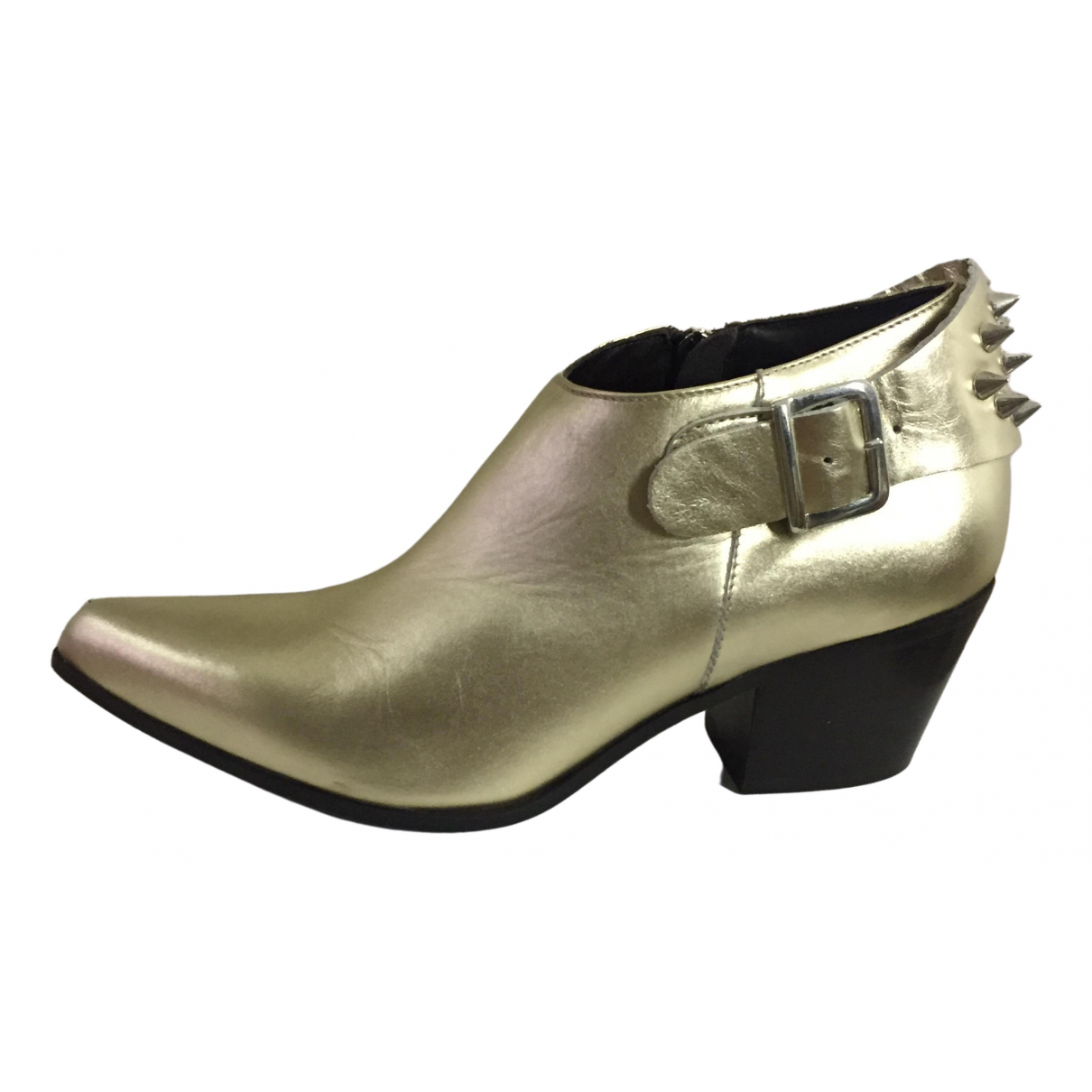 Dondup \N Metallic Leather Ankle boots for Women 38 EU