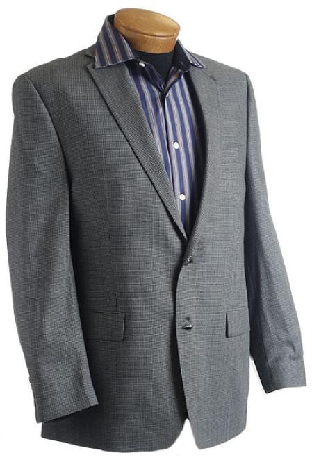 Mens Gray Designer Classic Tweed Sports Jacket