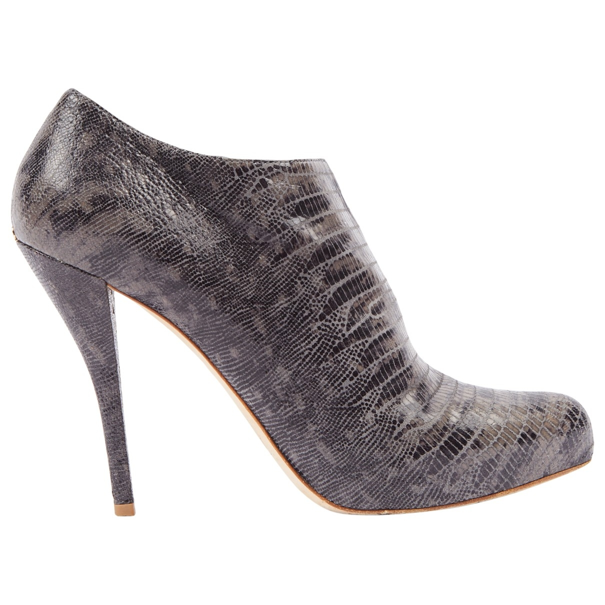 Dior \N Grey Leather Ankle boots for Women 40.5 EU