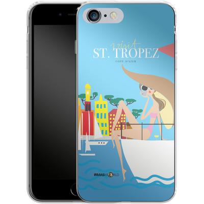 Apple iPhone 6s Plus Silikon Handyhuelle - ST TROPEZ TRAVEL POSTER von IRMA