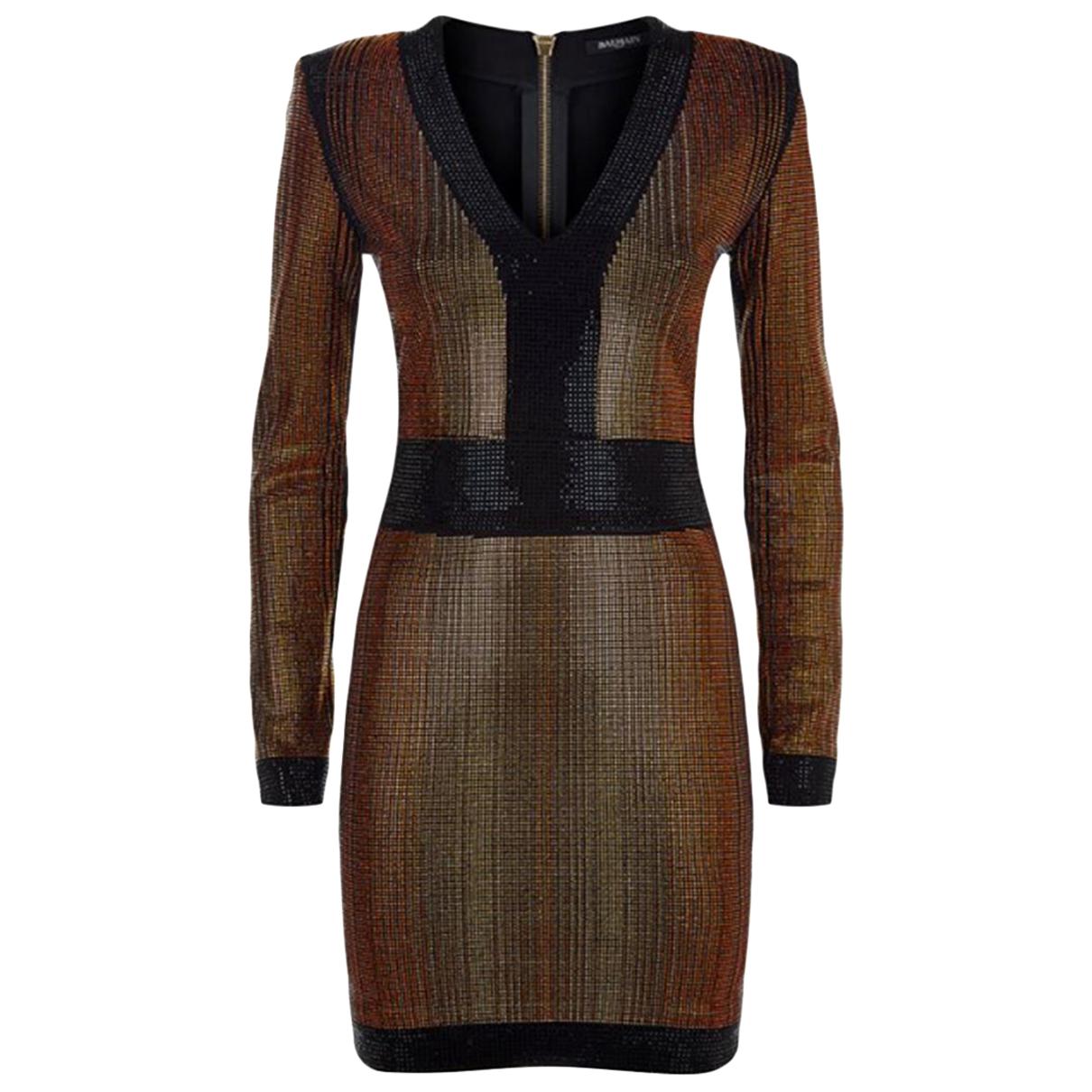 Balmain - Robe   pour femme - metallise