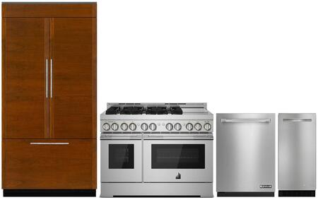 4 Piece Kitchen Appliances Package with JF36NXFXDE 36
