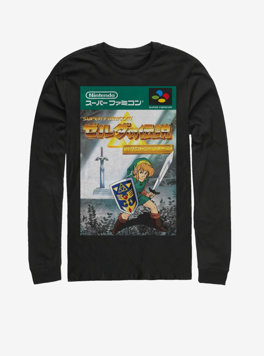 Legend of Zelda Japanese Cover Long-Sleeve T-Shirt