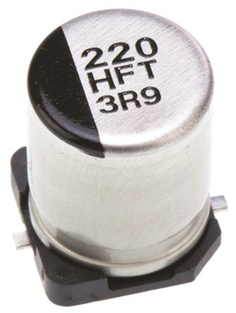 Panasonic 220μF Electrolytic Capacitor 50V dc, Surface Mount - EEEFT1H221AP (5)