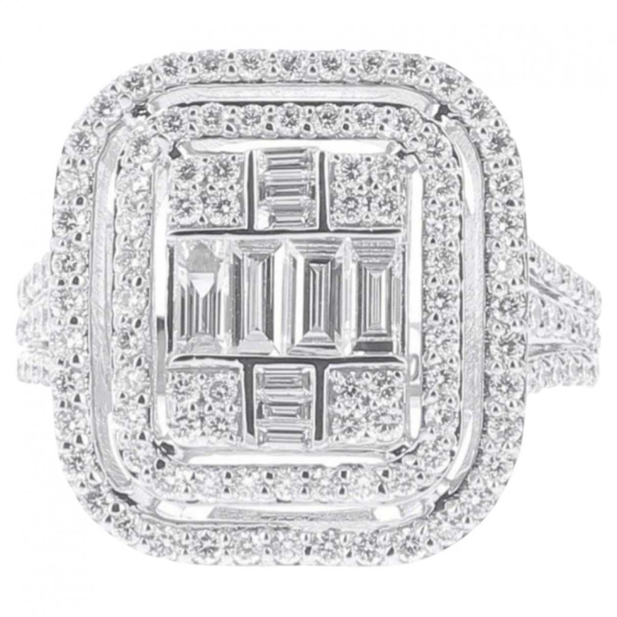 Non Signé / Unsigned Bagues Cocktails White White gold ring for Women 52 MM