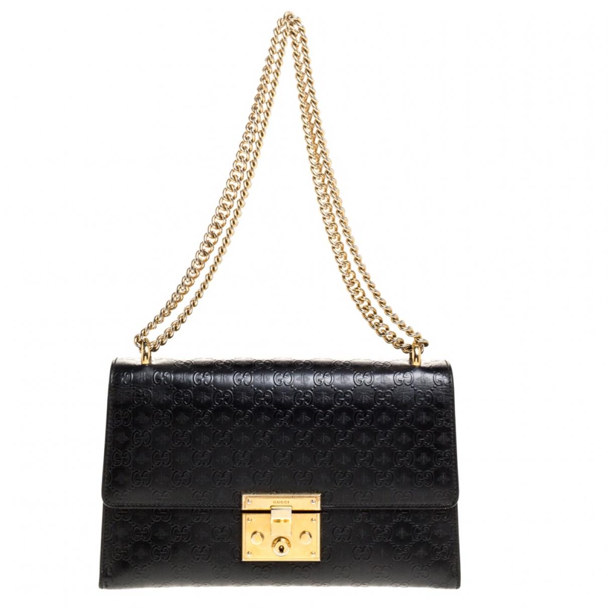 Gucci - Sac a main Padlock pour femme en cuir - noir