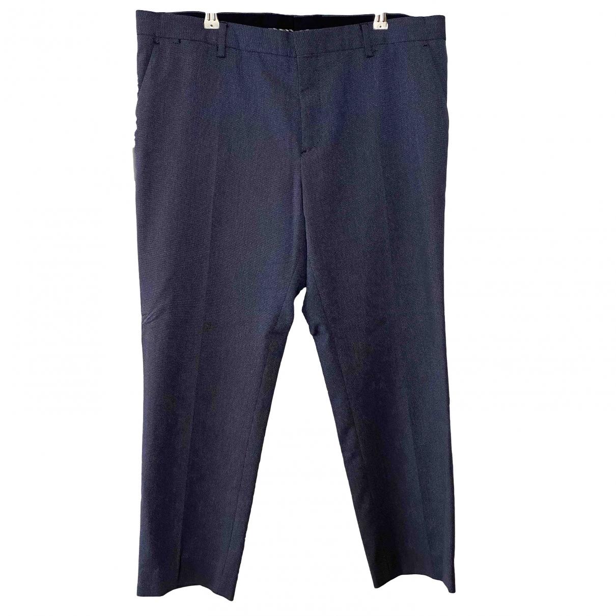 Zara \N Grey Cotton Trousers for Men 46 FR