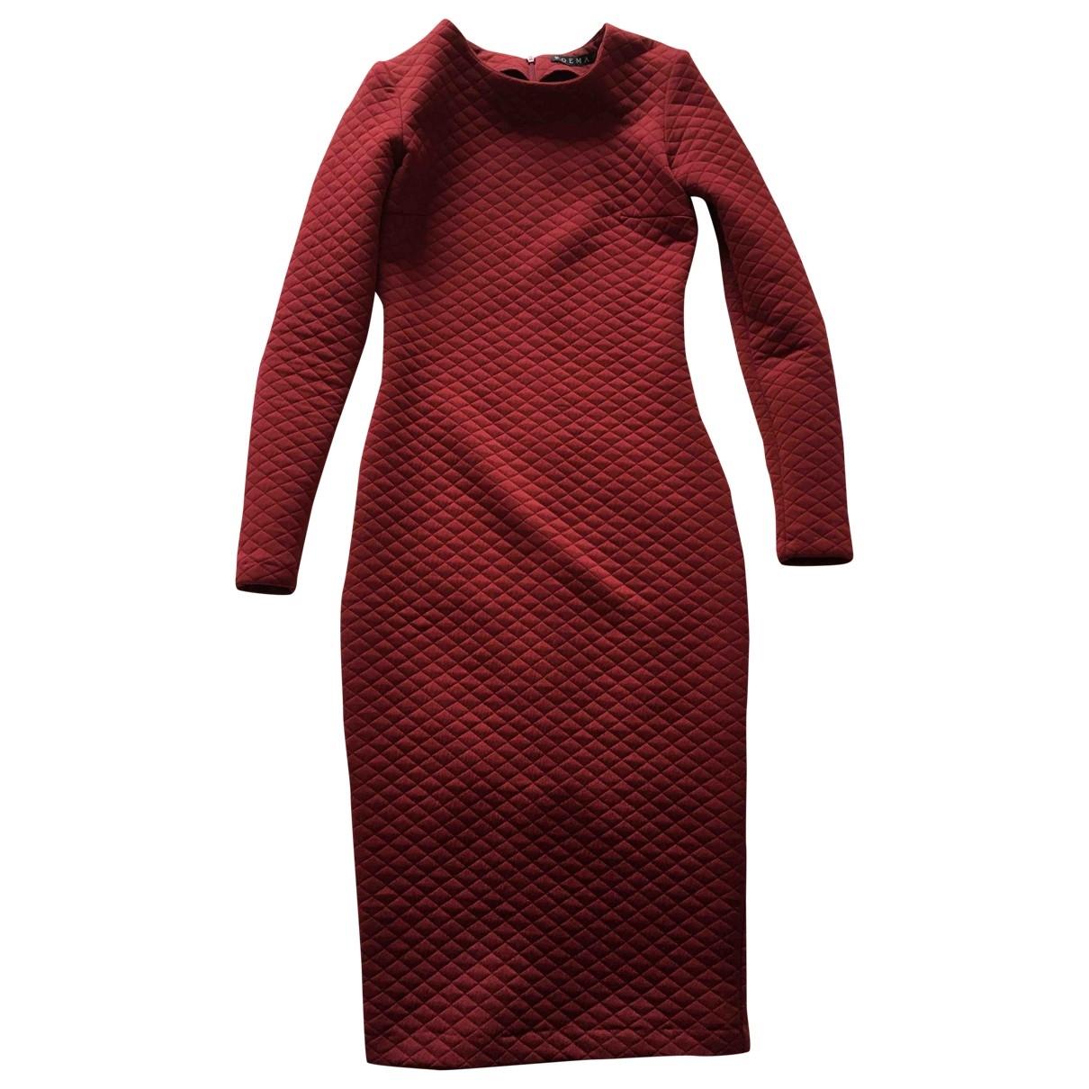 Non Signé / Unsigned \N Burgundy dress for Women 36 FR