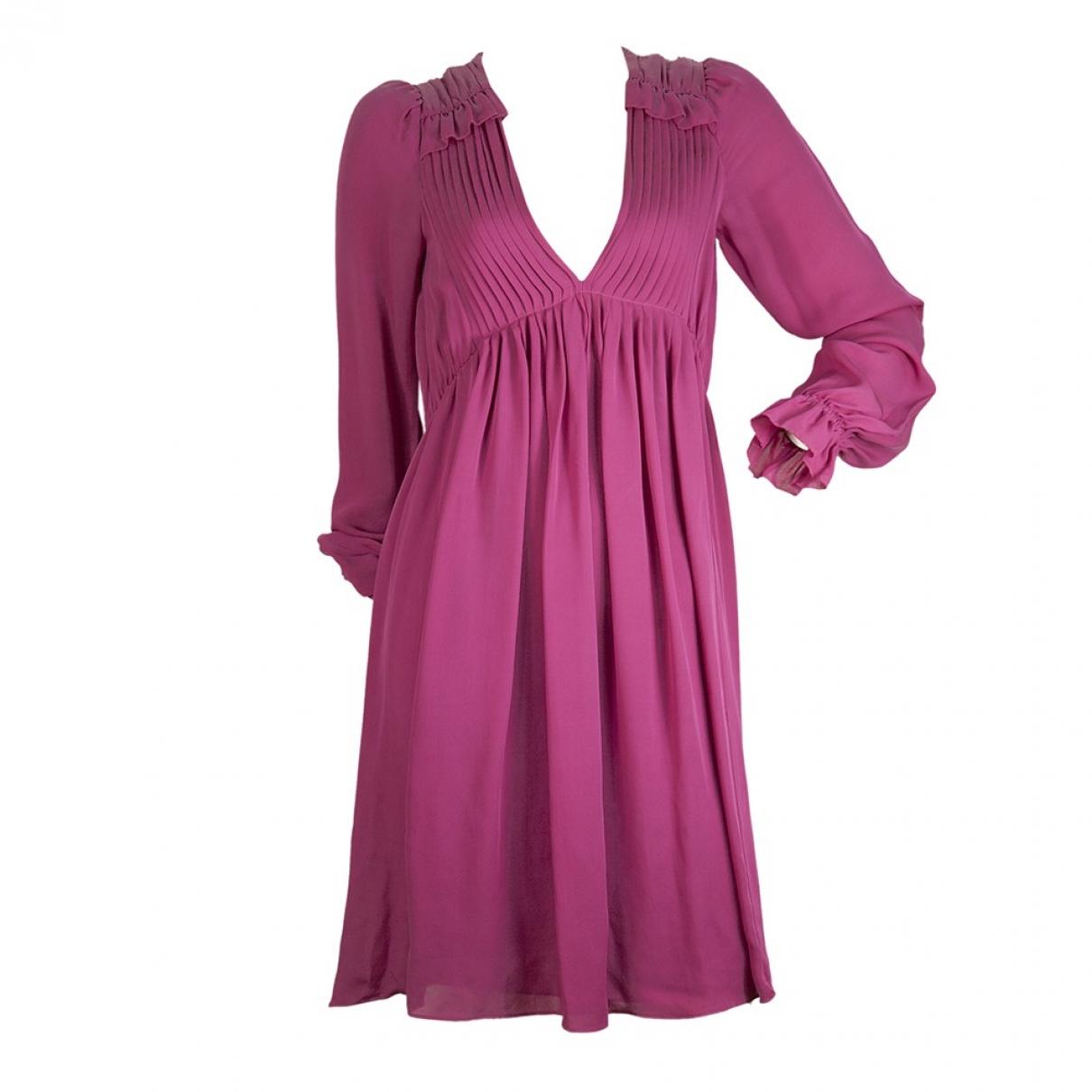 Michael Kors \N Kleid in  Rosa Seide