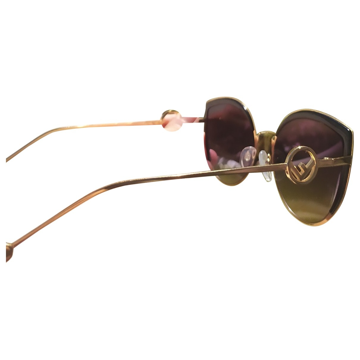 Fendi \N Gold Metal Sunglasses for Women \N