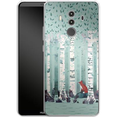Huawei Mate 10 Pro Silikon Handyhuelle - Birches von Little Clyde