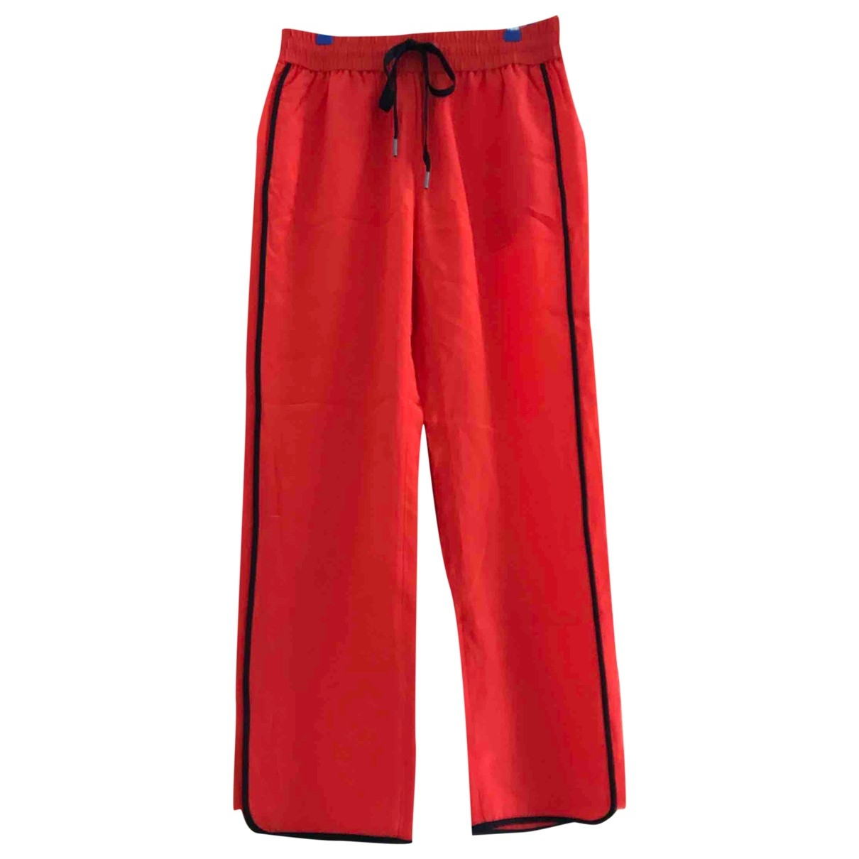 Marc By Marc Jacobs \N Red Silk Trousers for Women XS International
