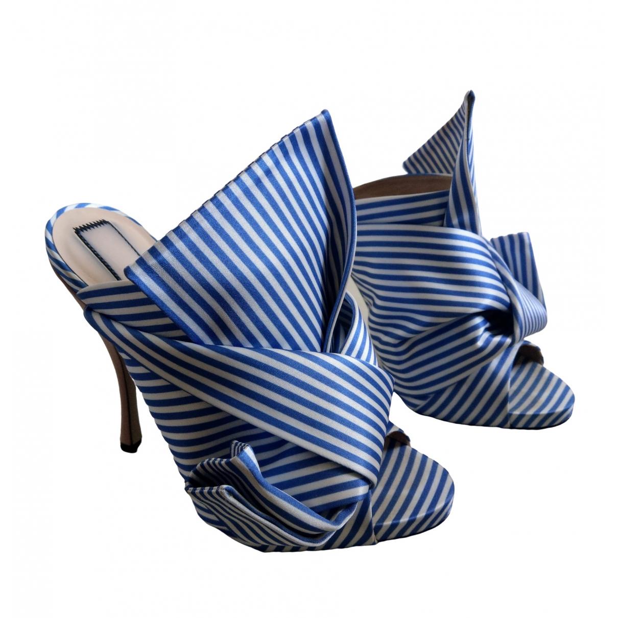 N°21 \N Blue Cloth Sandals for Women 38.5 EU