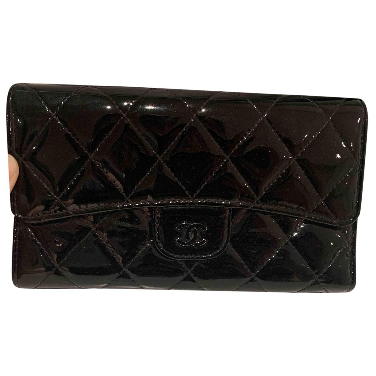 Chanel - Portefeuille 2.55 pour femme en cuir - noir