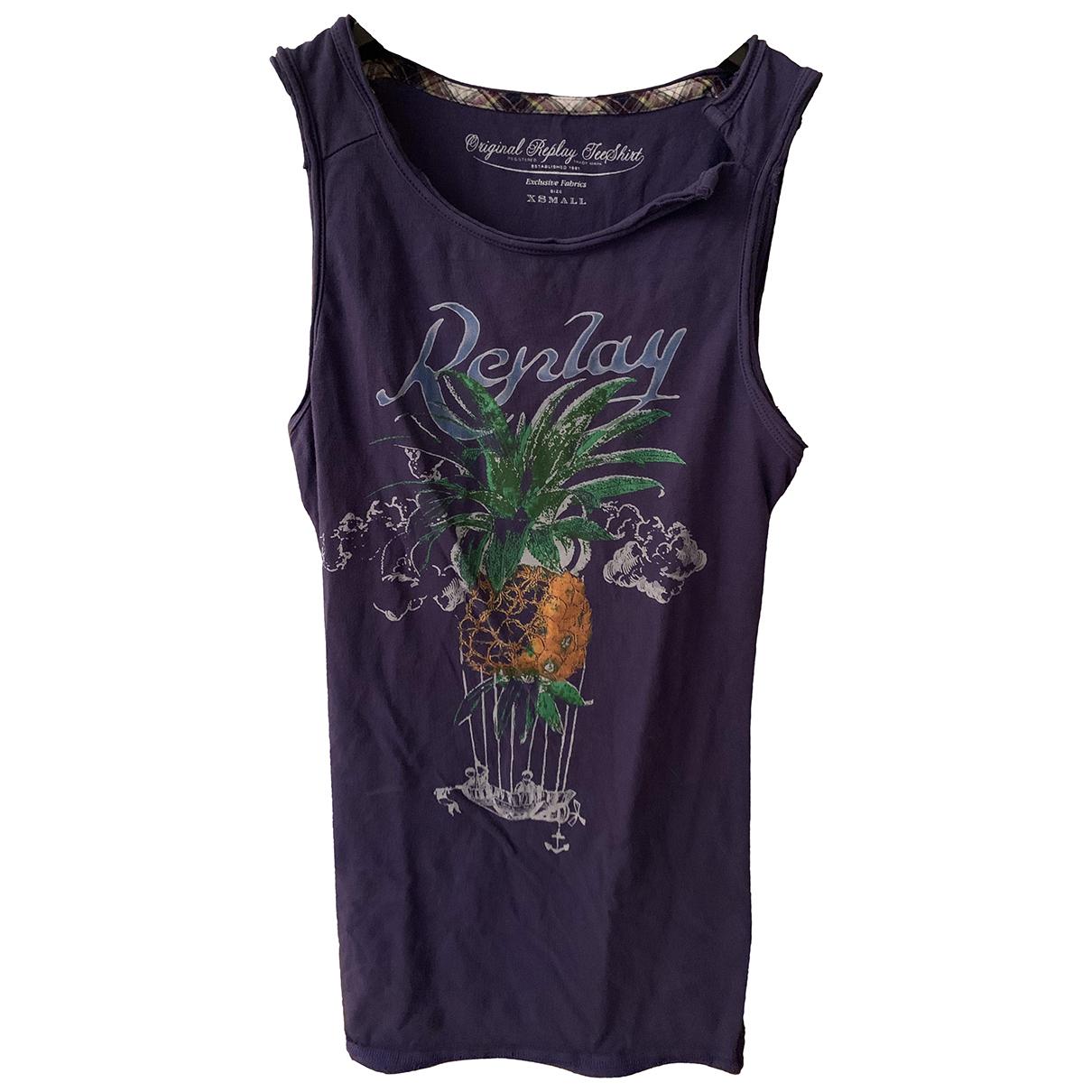 Replay - Top   pour femme en coton - violet