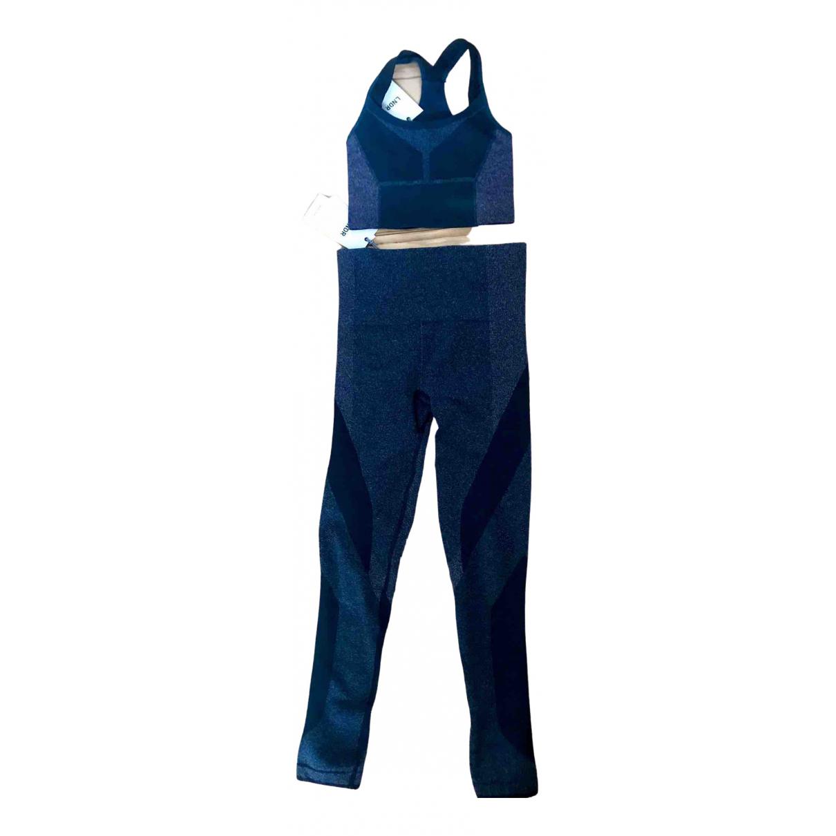 Lndr \N Blue Spandex Trousers for Women 8 UK
