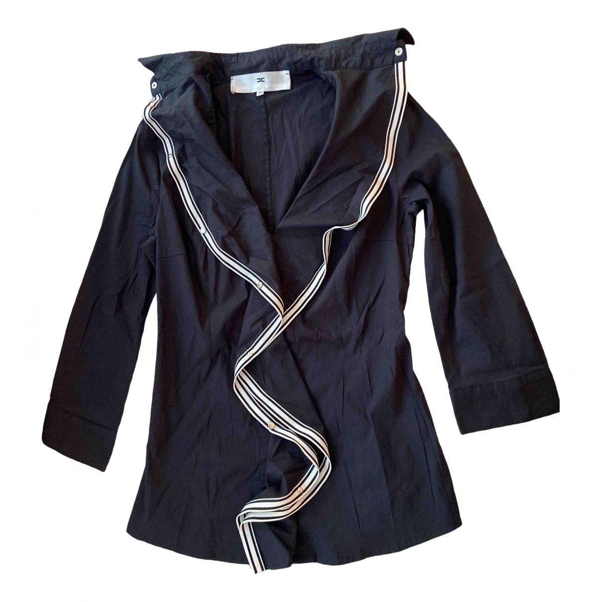 Elisabetta Franchi - Top   pour femme en coton - noir