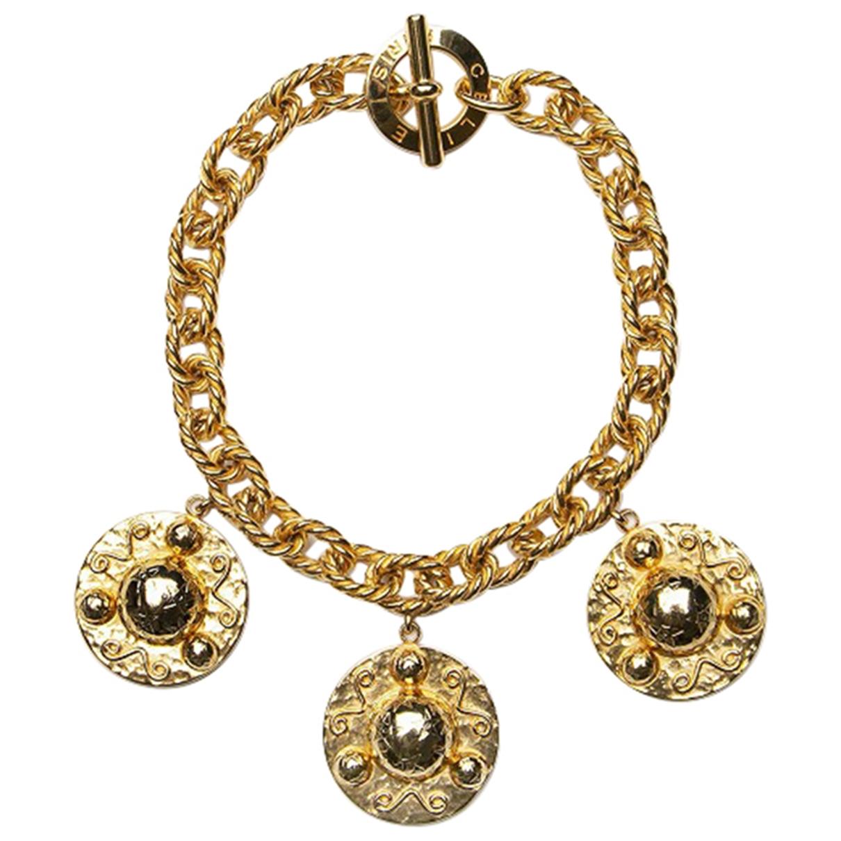 Celine \N Kette in  Gold Metall