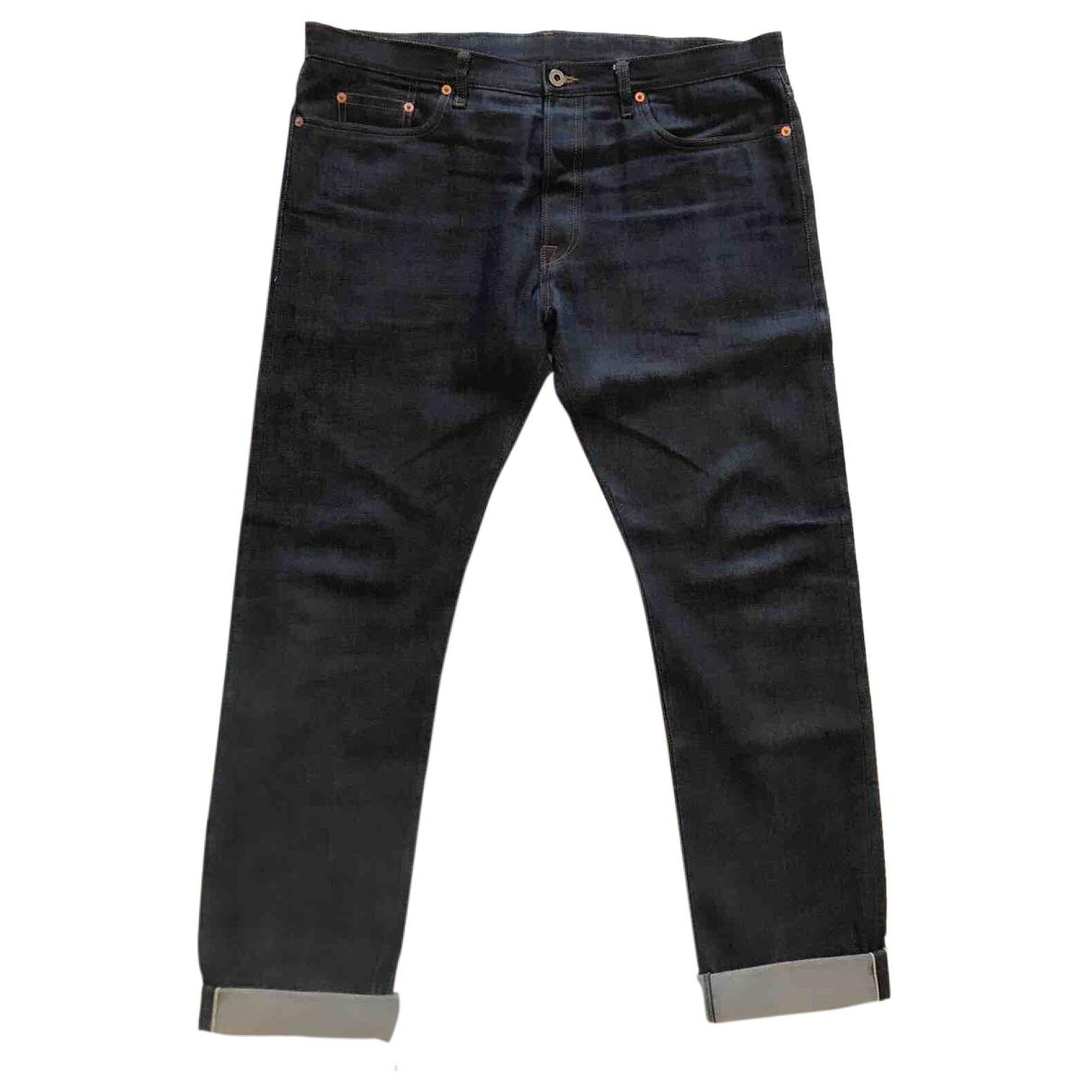 Valentino Garavani \N Navy Cotton Jeans for Men 36 US