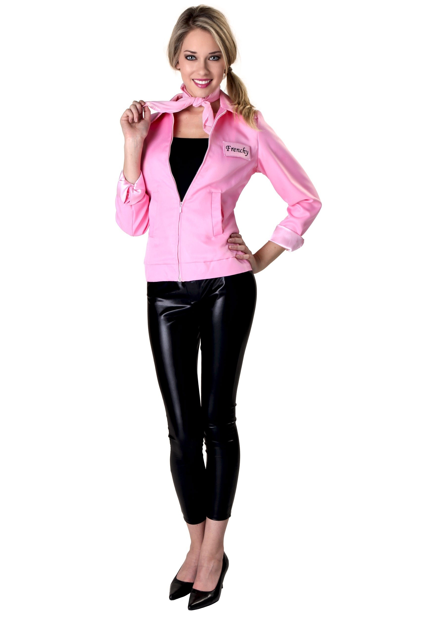Authentic Grease Plus Size Pink Ladies Jacket Costume