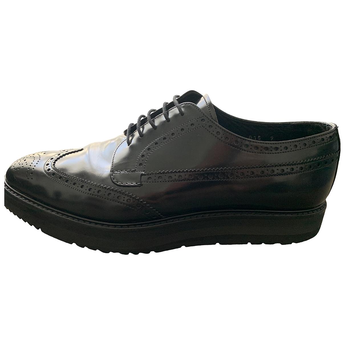 Prada \N Black Leather Lace ups for Men 43 EU