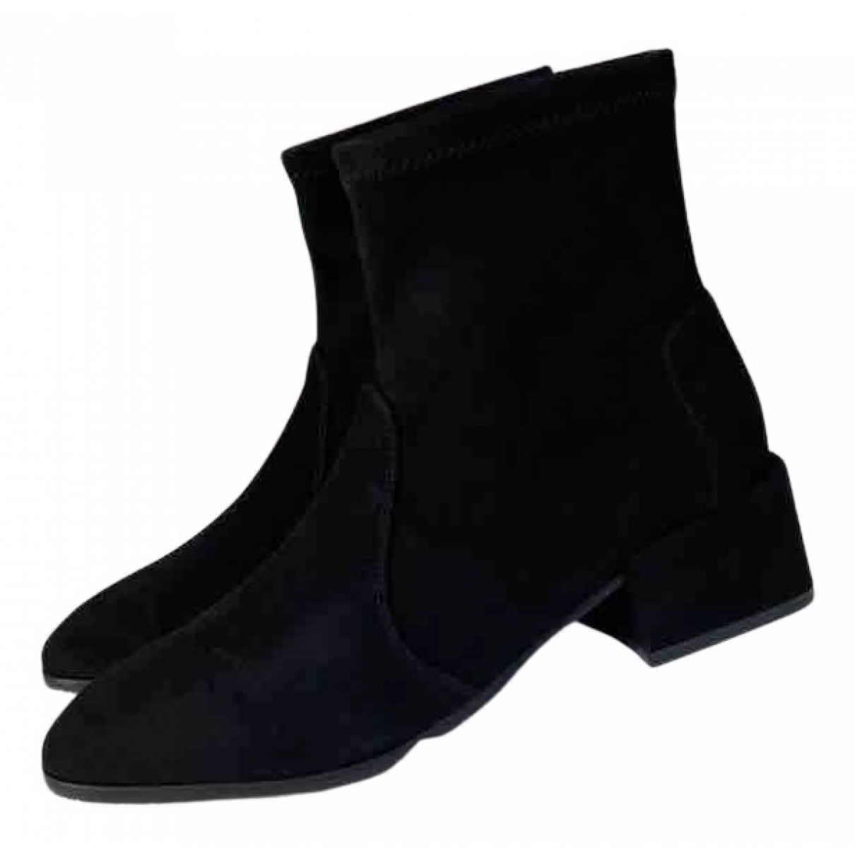 Stuart Weitzman N Black Suede Ankle boots for Women 37 EU