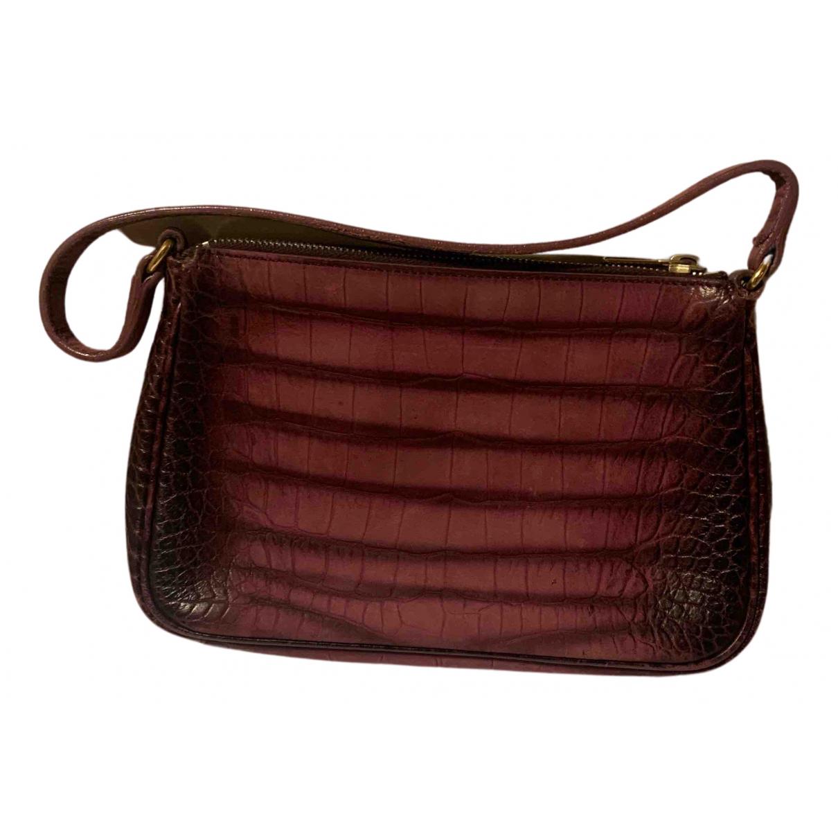 Yves Saint Laurent N Burgundy Leather Clutch bag for Women N