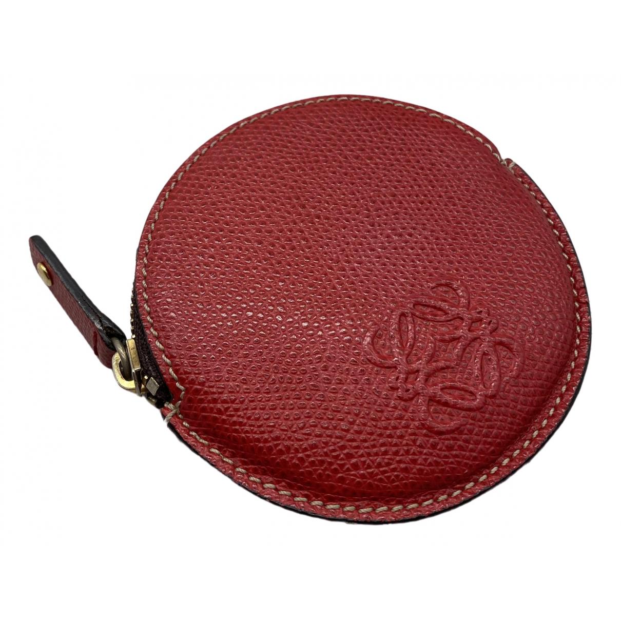 Loewe \N Kleinlederwaren in  Rot Leder